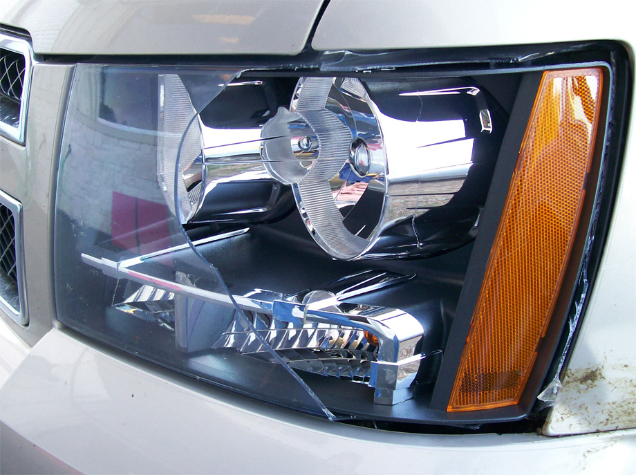 Unprotected Headlight
